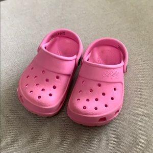 Pink Crocs size 7